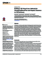 Building a 3D virtual liver: methods for simulating blood flow and hepatic clearance on 3D structures