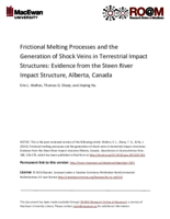 Frictional melting processes and the generation of shock veins in terrestrial impact structures: evidence from the Steen River impact structure, Alberta, Canada