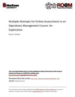 Multiple attempts for online assessments in an operations management course: an exploration