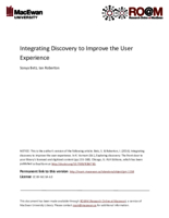 Integrating discovery to improve the user experience