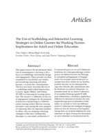 The use of scaffolding and interactive learning strategies in online courses for working nurses: implications for adult and online education