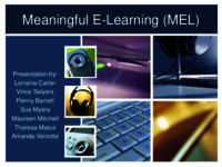 Meaningful e-learning (MEL)