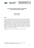 Enhancing multi-method research methodologies for more informed decision-making