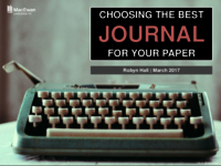 Choosing the best journal for your paper