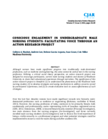 Conscious engagement in undergraduate male nursing students: facilitating voice through an action research project