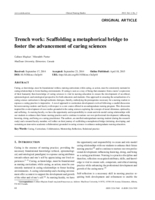 Trench work: scaffolding a metaphorical bridge to foster the advancement of caring sciences