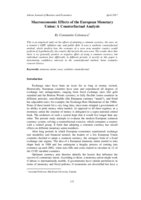Macroeconomic effects of the European Monetary Union: a counterfactual analysis