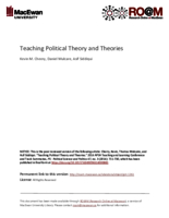 Teaching political theory and theories