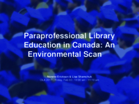 Paraprofessional library education in Canada: an environmental scan