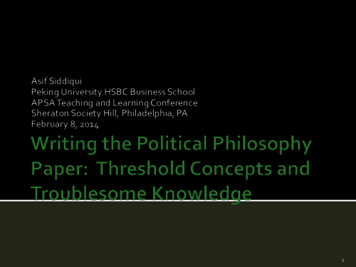 writing the political philosophy paper threshold concepts and  writing the political philosophy paper threshold concepts and troublesome knowledge