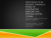 How much of an accent? toward a model of contrastive rhetoric for writing centre tutors