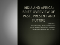 India and Africa: brief overview of past, present and future