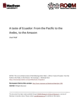 A taste of Ecuador: from the Pacific to the Andes, to the Amazon