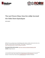 The last picture shop: how the Lobby survived the video store apocalypse