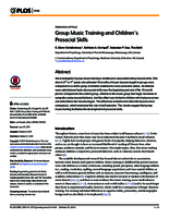 Group music training and children's prosocial skills