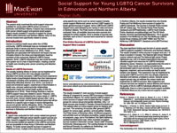 Locating social support for young LGBTQ cancer survivors in Edmonton & Northern Alberta