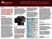 Existing Canadian support programs available for young adult survivors suffering with psychological distress as a consequence of cancer