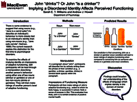 "John ""drinks""? Or John is ""a drinker""? Implying a disordered identity affects perceived functioning"