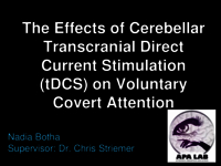 The effects of cerebellar transcranial direct current stimulation (tDCS) on voluntary covert attention