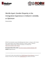 Worlds apart: gender disparity in the immigration experience in Voltaire's Candide, or Optimism