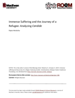 Immense suffering and the journey of a refugee: analyzing Candide