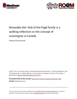 Moveable dirt: Rob of the Pagé family is a walking reflection on the concept of sovereignty in Canada