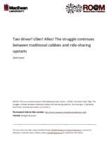 Taxi driver! Uber! Alles! The struggle continues between traditional cabbies and ride-sharing upstarts