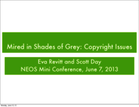 Mired in shades of grey: copyright issues