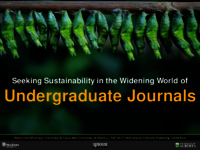 Seeking sustainability in the widening world of undergraduate journals