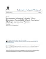 Implementing Indigenous education policy directives in Ontario Public Schools: experiences, challenges and successful practices
