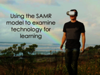 Using the SAMR model to examine technology for learning