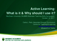 Active learning: what is it and why should I use it?