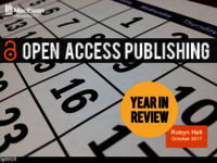 Open access publishing: year in review