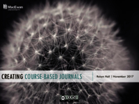 Creating course-based journals