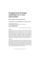 Enseignement du design numérique au 2e cycle universitaire: former à l'intervention professionnelle