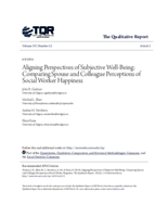 Aligning perspectives of subjective well-being: comparing spouse and colleague perceptions of social worker happiness