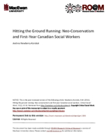 Hitting the ground running: neo-conservatism and first year Canadian social workers