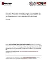Mission possible: introducing sustainability as an experiential entrepreneurship activity