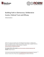 Building faith in democracy: deliberative events, political trust and efficacy