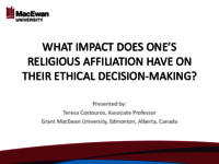 What impact does one's religious affiliation have on their ethical decision-making?