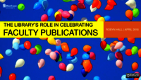 The library's role in celebrating faculty publications