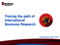 Tracing the path of international business research