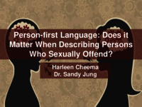 Person-first language: does it matter when describing persons who sexually offended?