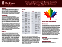 Identifying online and Edmonton community based support groups for LGBTQ young adults with cancer