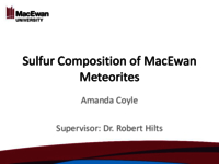 Sulfur composition of MacEwan meteorites