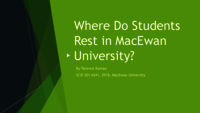 Where do students rest in MacEwan University