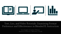 Text, lies, and video tutorials: examining format preference and effectiveness in blended IL instruction