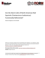 Are the alarm calls of North American red squirrels (Tamiasciurus hudsonicus) functionally referential?