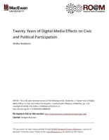 Twenty years of digital media effects on civic and political participation