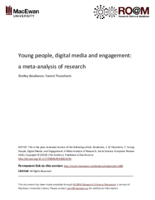 Young people, digital media and engagement: a meta-analysis of research
